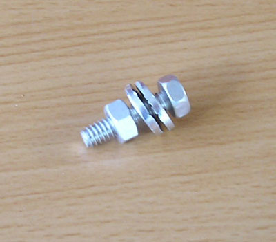"1"" (25mm) Aluminum bolt(s)"