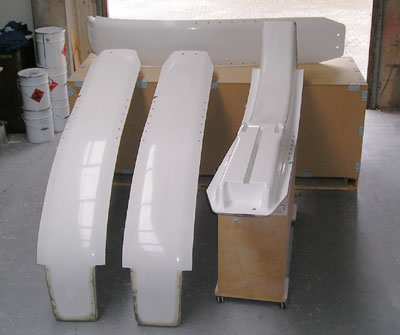 F-32 Carbon/glass Beam Set (4 beams) - Total Price $16944